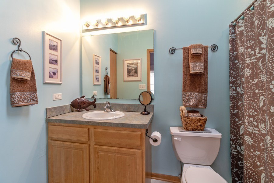 Real Estate Photography - 1434 Fox Hound Trail, Beecher, IL, 60401 - Master Bathroom
