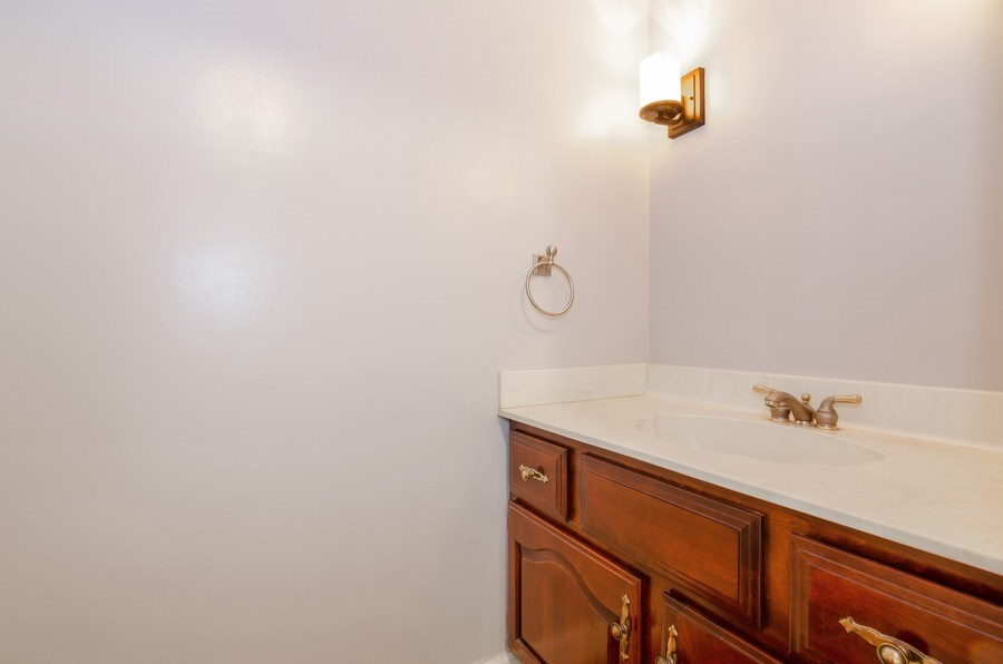 Real Estate Photography - 20587 Swansway, Deer Park, IL, 60010 - Powder Room