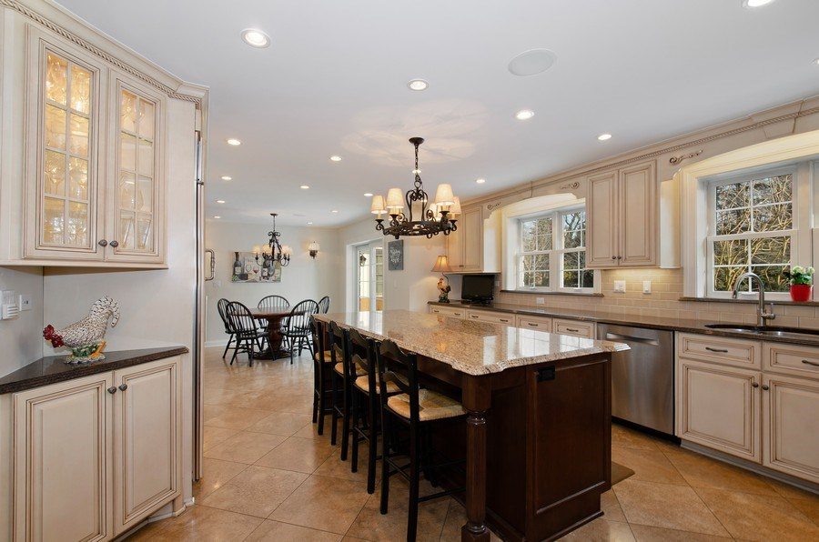Real Estate Photography - 2800 Romona Court, Wilmette, IL, 60091 - Kitchen with Separate Breakfast Room