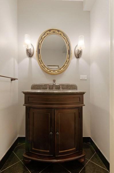 Real Estate Photography - 2800 Romona Court, Wilmette, IL, 60091 - Powder Room