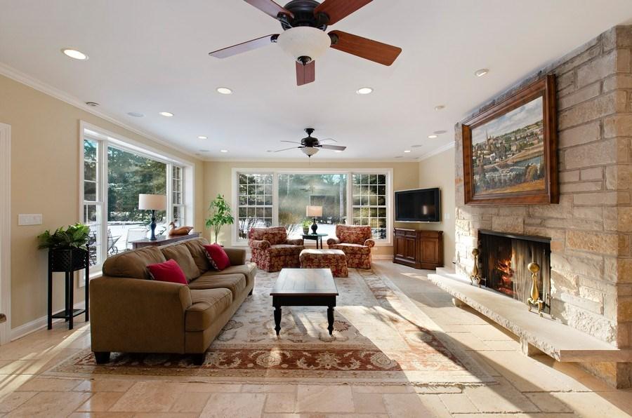 Real Estate Photography - 2800 Romona Court, Wilmette, IL, 60091 - Family Room
