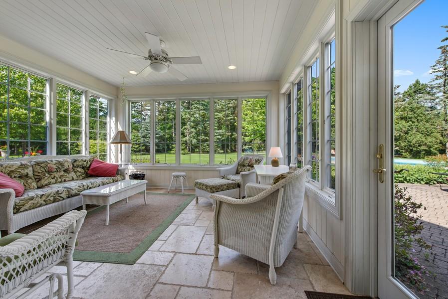 Real Estate Photography - 2800 Romona Court, Wilmette, IL, 60091 - Sun Room (3 Season off Family Room and Pool Patio)