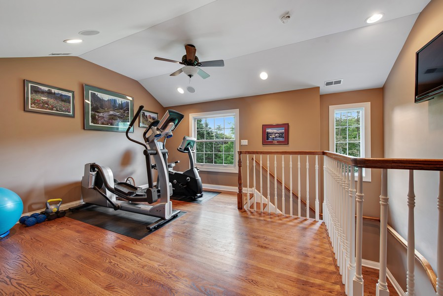 Real Estate Photography - 2800 Romona Court, Wilmette, IL, 60091 - Work Out Room
