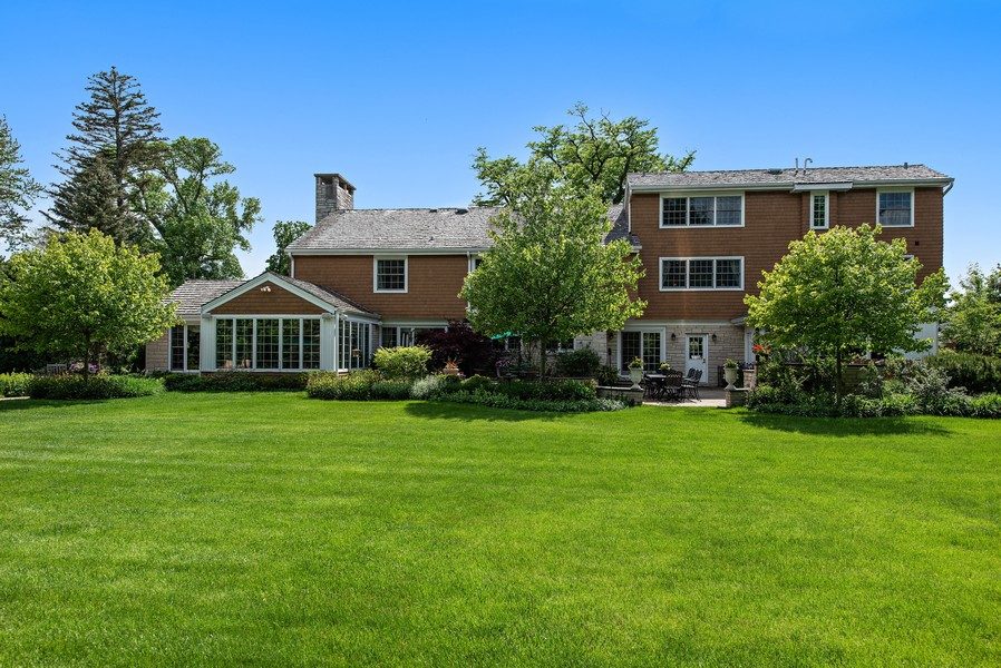 Real Estate Photography - 2800 Romona Court, Wilmette, IL, 60091 - Lush Acre Back Yard: Home