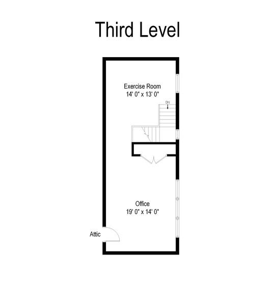 Real Estate Photography - 2800 Romona Court, Wilmette, IL, 60091 - Floor Plan: Third Floor