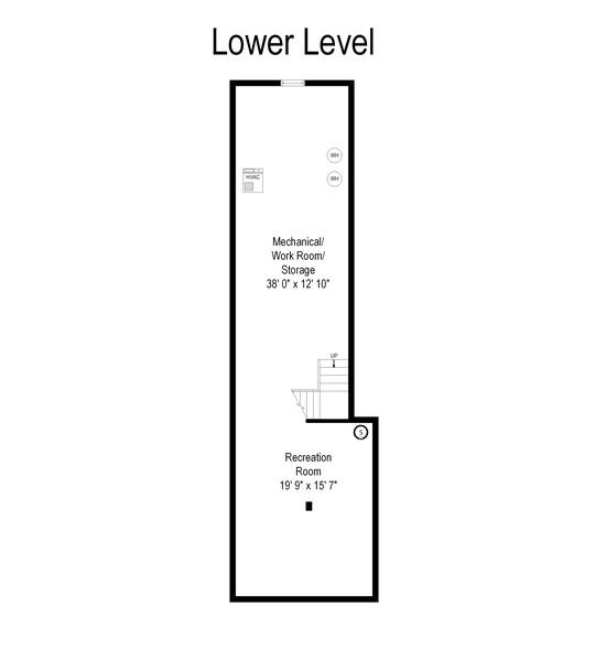 Real Estate Photography - 2800 Romona Court, Wilmette, IL, 60091 - Floor Plan: Lower Level