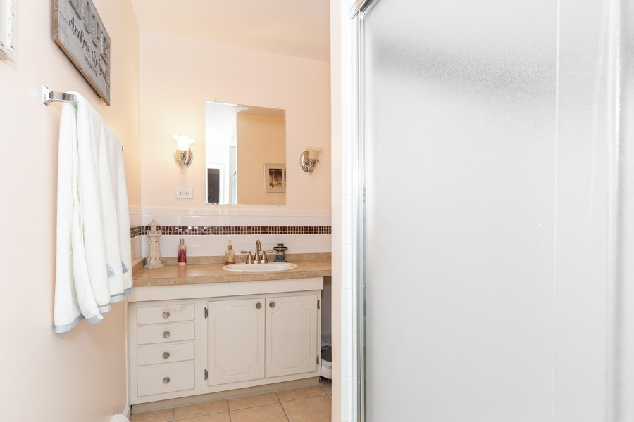Real Estate Photography - 4250 Saratoga Ave., Unit 114, Downers Grove, IL, 60515 - Master Bathroom