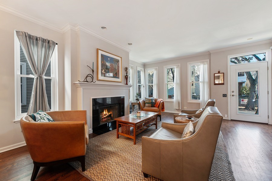 Real Estate Photography - 1862 N Wilmot Ave, Chicago, IL, 60647 - Living Room