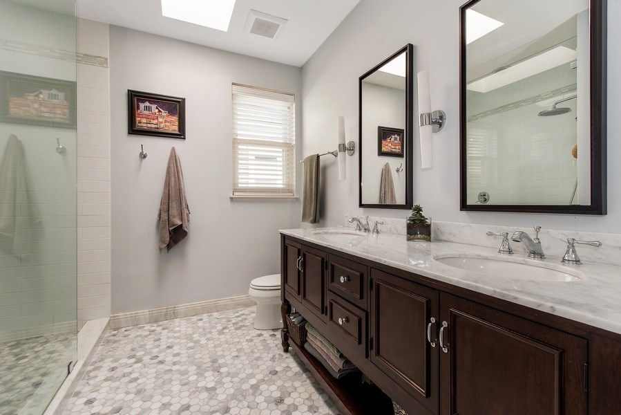 Real Estate Photography - 1862 N Wilmot Ave, Chicago, IL, 60647 - Master Bathroom