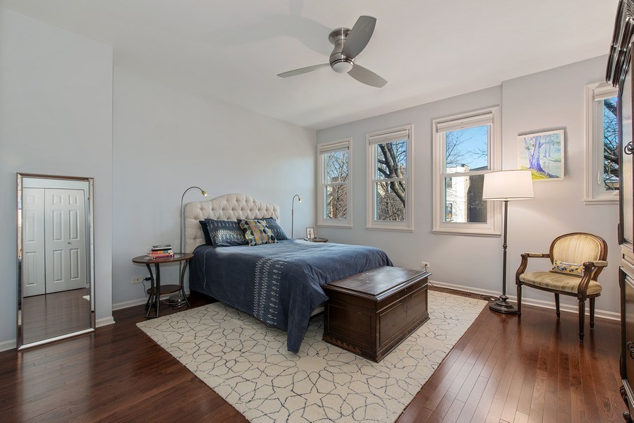 Real Estate Photography - 1862 N Wilmot Ave, Chicago, IL, 60647 - Master Bedroom
