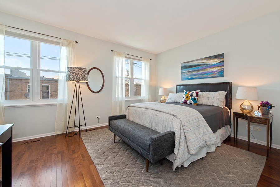 Real Estate Photography - 1862 N Wilmot Ave, Chicago, IL, 60647 - 2nd Bedroom