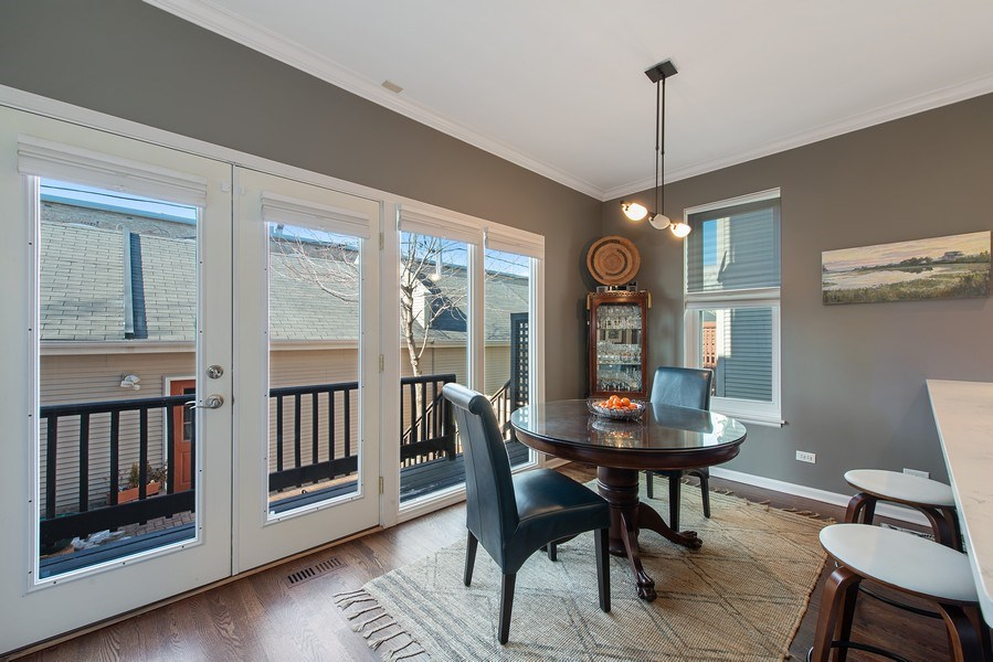 Real Estate Photography - 1862 N Wilmot Ave, Chicago, IL, 60647 - Breakfast Nook