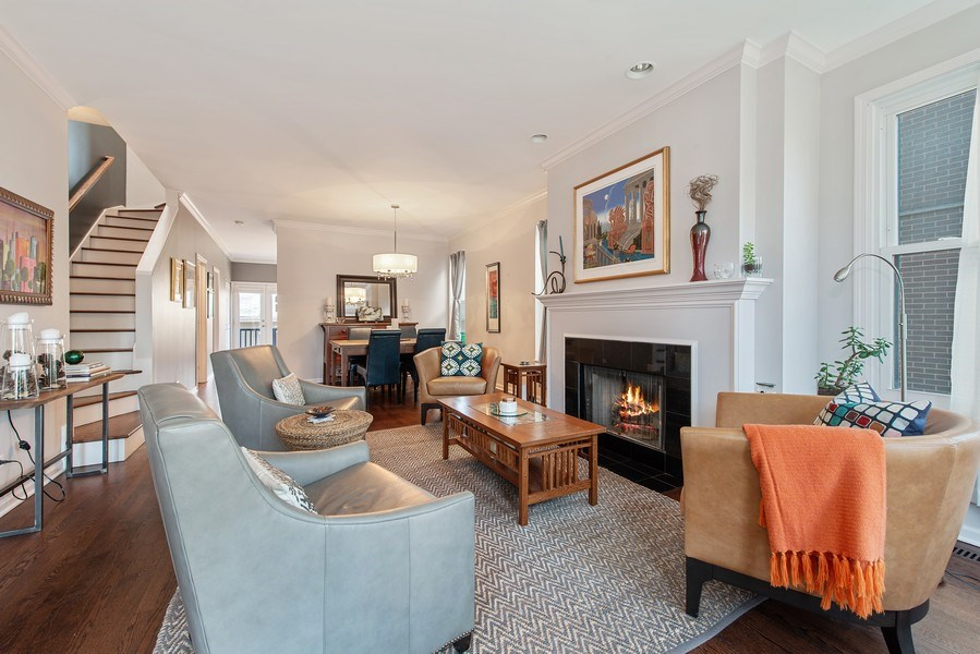 Real Estate Photography - 1862 N Wilmot Ave, Chicago, IL, 60647 - Living Room / Dining Room