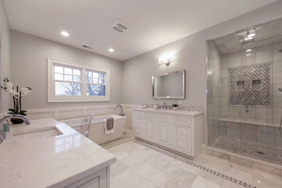 Real Estate Photography - 117 Church Rd, Winnetka, IL, 60093 - Master Bathroom