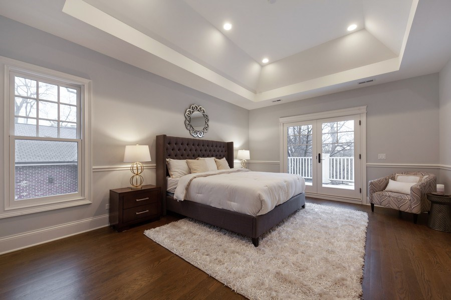 Real Estate Photography - 117 Church Rd, Winnetka, IL, 60093 - Master Bedroom