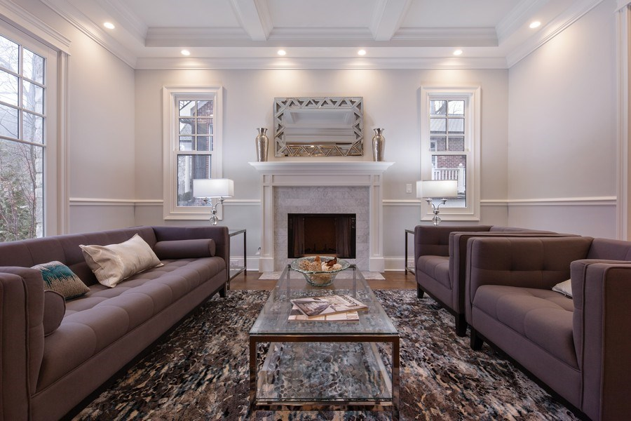 Real Estate Photography - 117 Church Rd, Winnetka, IL, 60093 - Living Room