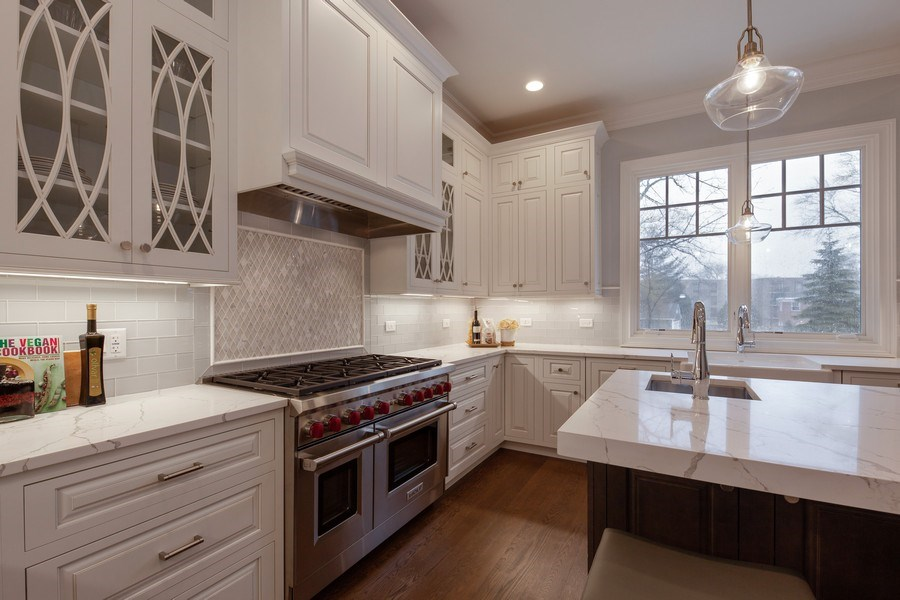 Real Estate Photography - 117 Church Rd, Winnetka, IL, 60093 - Kitchen