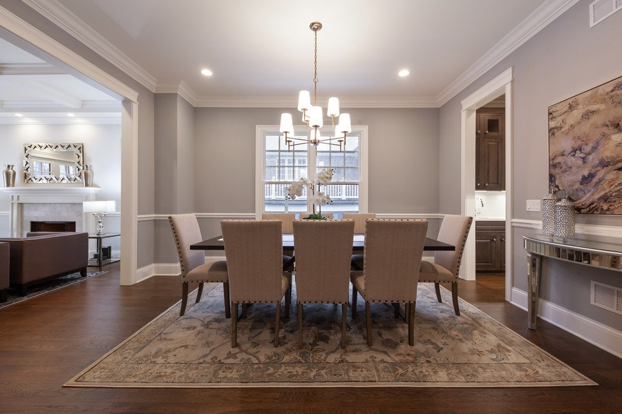 Real Estate Photography - 117 Church Rd, Winnetka, IL, 60093 - Dining Room