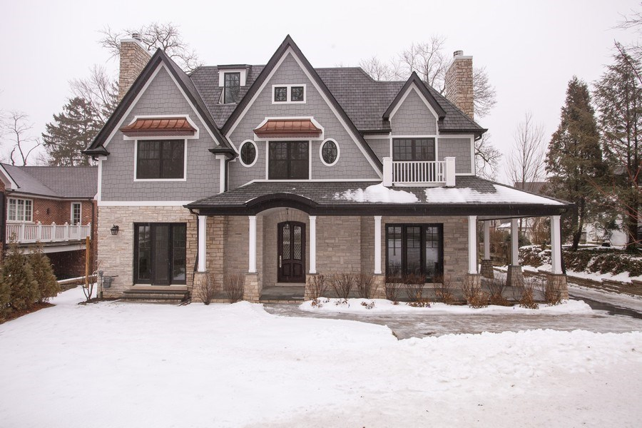 Real Estate Photography - 117 Church Rd, Winnetka, IL, 60093 - Front View
