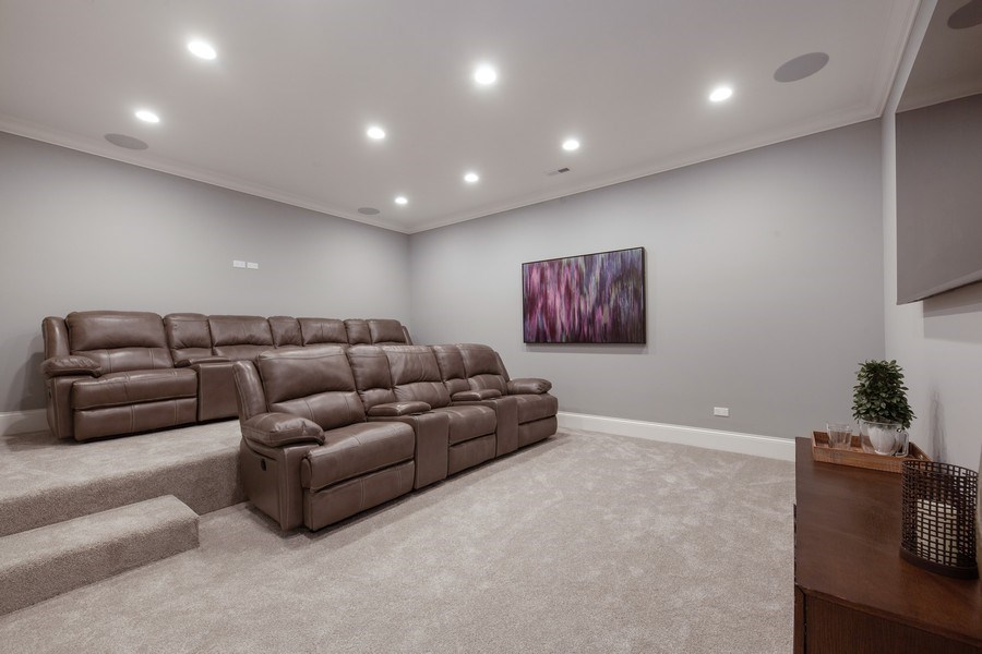 Real Estate Photography - 117 Church Rd, Winnetka, IL, 60093 - Theater