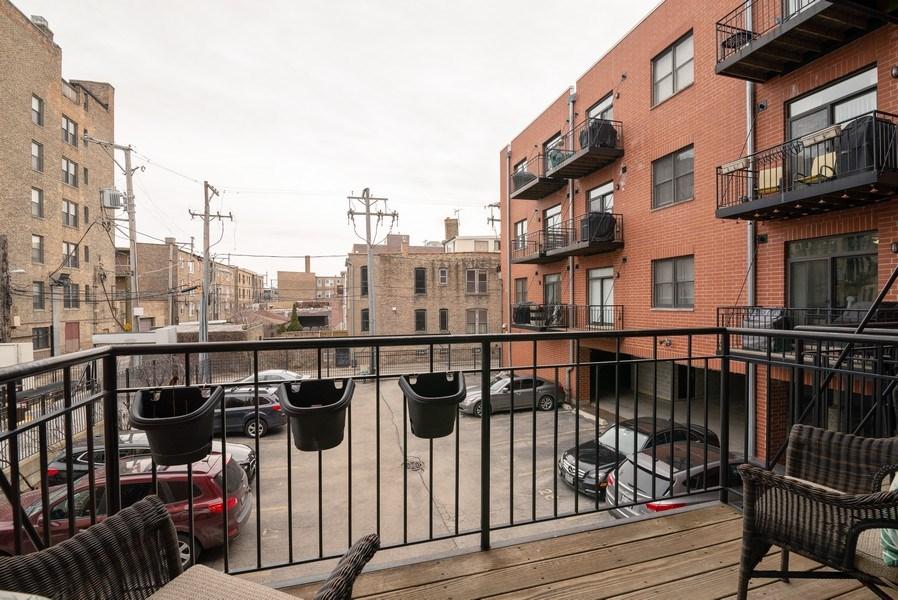 Real Estate Photography - 1025 W Buena Ave, Unit 2E, Chicago, IL, 60613 - Balcony