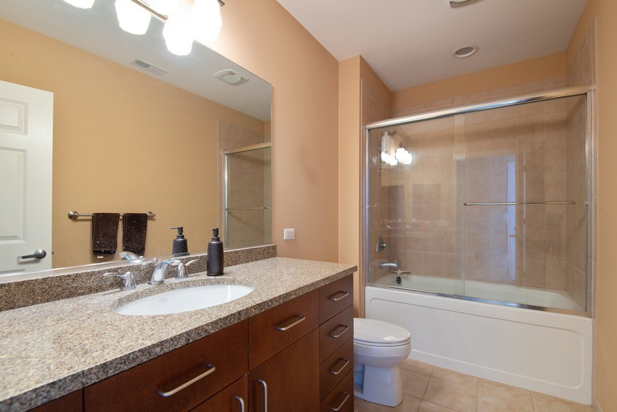 Real Estate Photography - 1720 Oak Avenue, Unit 502, Evanston, IL, 60201 - Master Bathroom