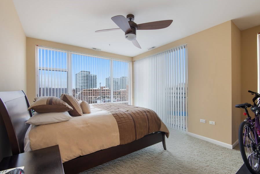 Real Estate Photography - 1720 Oak Avenue, Unit 502, Evanston, IL, 60201 - Master Bedroom