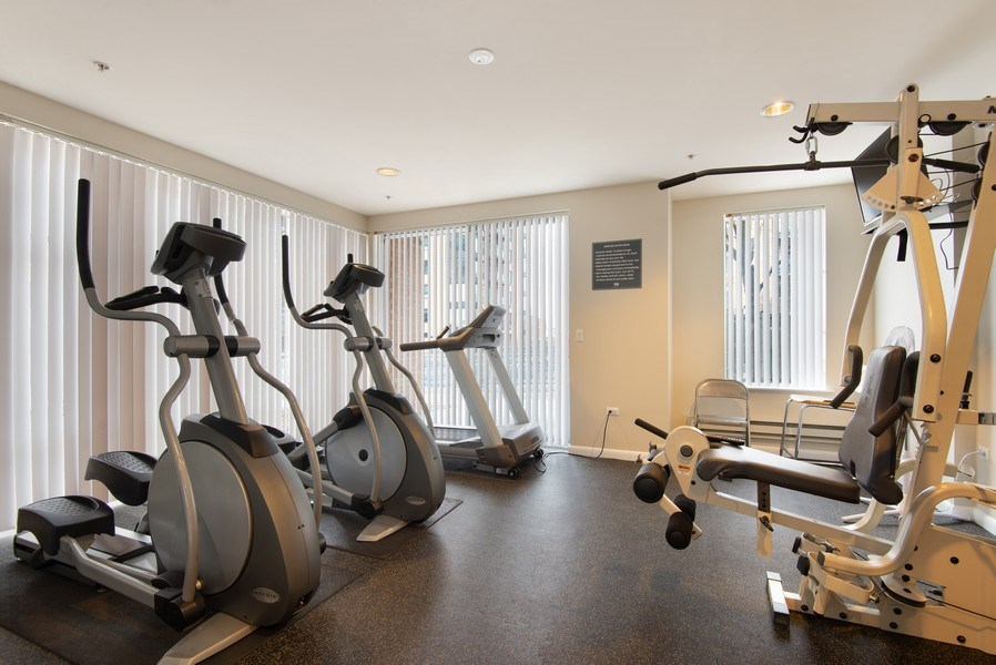 Real Estate Photography - 1720 Oak Avenue, Unit 502, Evanston, IL, 60201 - Fitness Room