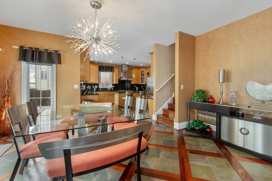 Real Estate Photography - 600 Sutherland Ct., Inverness, IL, 60010 - Breakfast Area