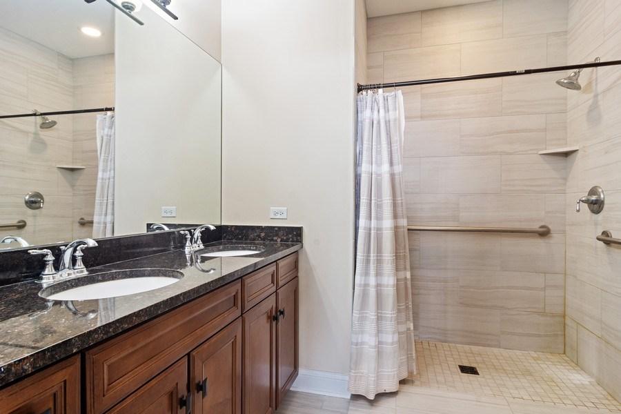 Real Estate Photography - 100 Prairie Park, Unit 612, Wheeling, IL, 60090 - Master Bathroom