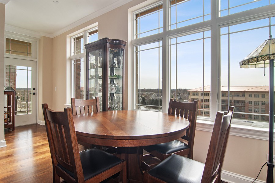 Real Estate Photography - 100 Prairie Park, Unit 612, Wheeling, IL, 60090 - Dining Room