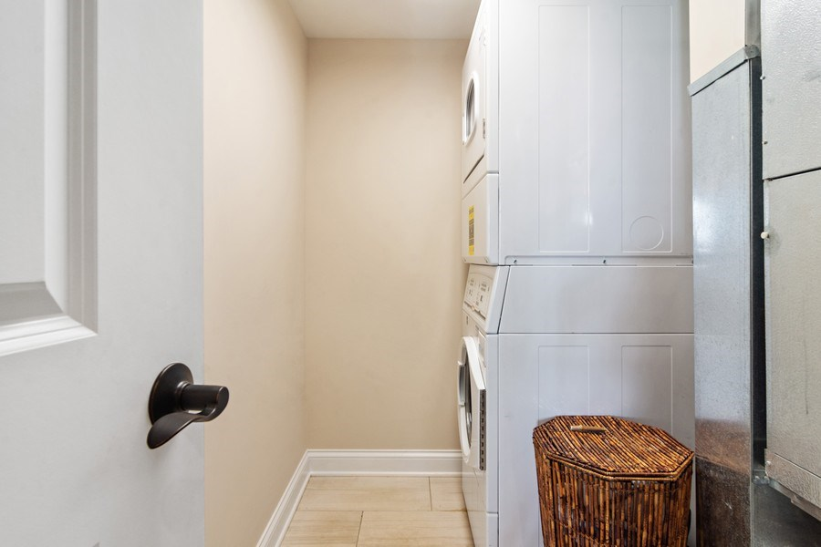 Real Estate Photography - 100 Prairie Park, Unit 612, Wheeling, IL, 60090 - Laundry Room