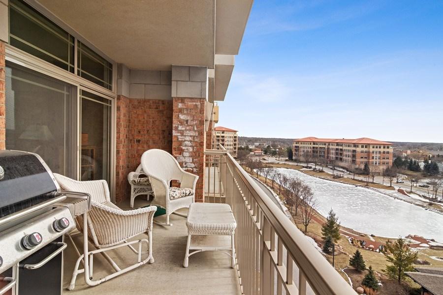 Real Estate Photography - 100 Prairie Park, Unit 612, Wheeling, IL, 60090 - Balcony