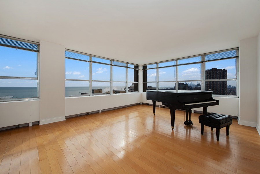 Real Estate Photography - 655 W Irving Park Rd, Unit 2601, Chicago, IL, 60613 - Living Room