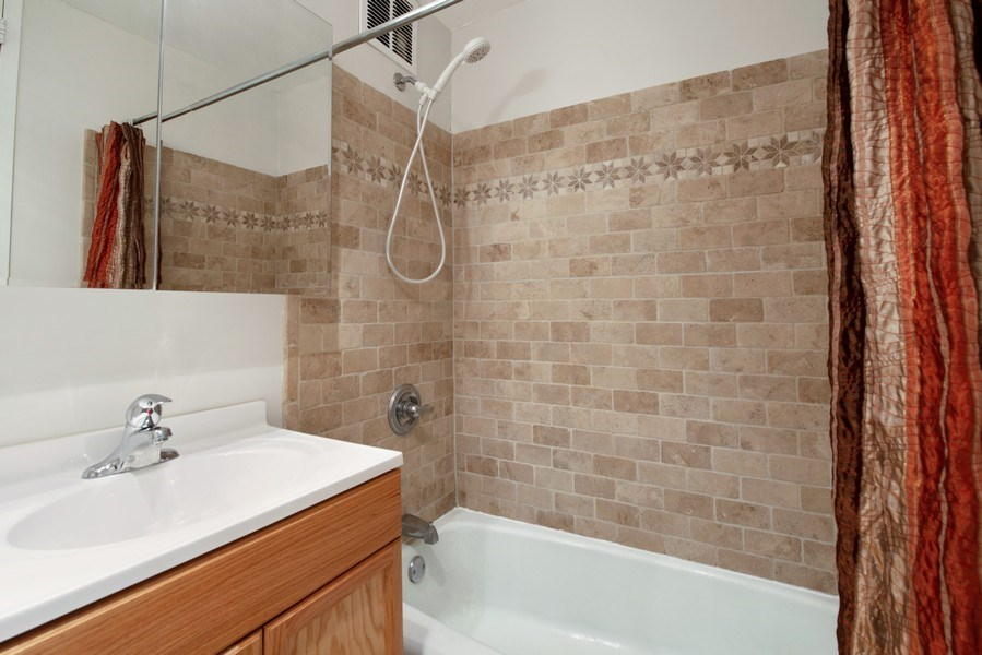 Real Estate Photography - 655 W Irving Park Rd, Unit 2601, Chicago, IL, 60613 - Master Bathroom