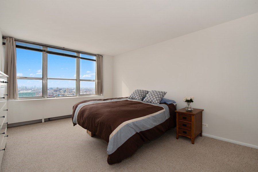 Real Estate Photography - 655 W Irving Park Rd, Unit 2601, Chicago, IL, 60613 - Master Bedroom