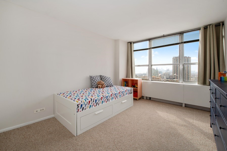 Real Estate Photography - 655 W Irving Park Rd, Unit 2601, Chicago, IL, 60613 - 2nd Bedroom