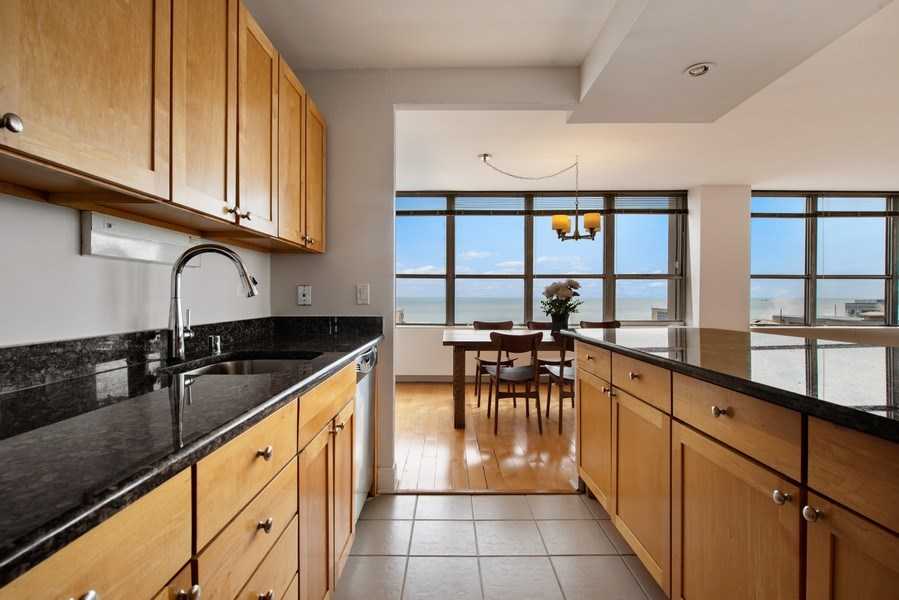 Real Estate Photography - 655 W Irving Park Rd, Unit 2601, Chicago, IL, 60613 - Kitchen