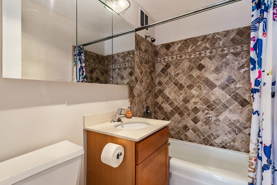 Real Estate Photography - 655 W Irving Park Rd, Unit 2601, Chicago, IL, 60613 - 2nd Bathroom