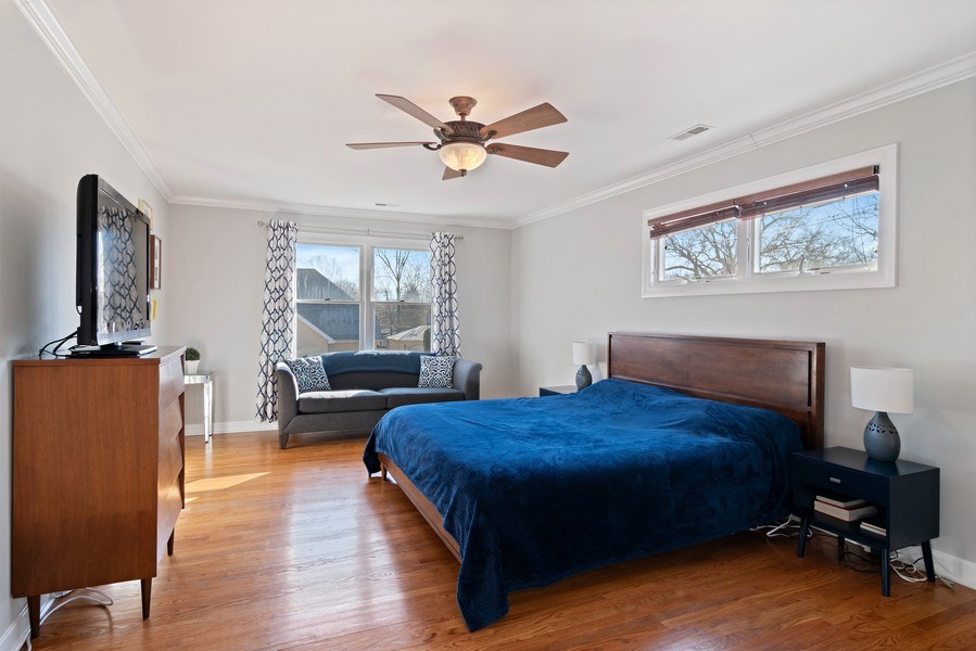 Real Estate Photography - 20 S Cowley Rd, Riverside, IL, 60546 - Master Bedroom