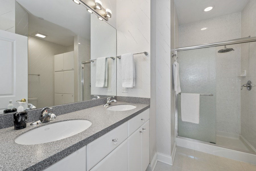 Real Estate Photography - 115 Prairie Park Dr #205, Wheeling, IL, 60090 - Master Bathroom