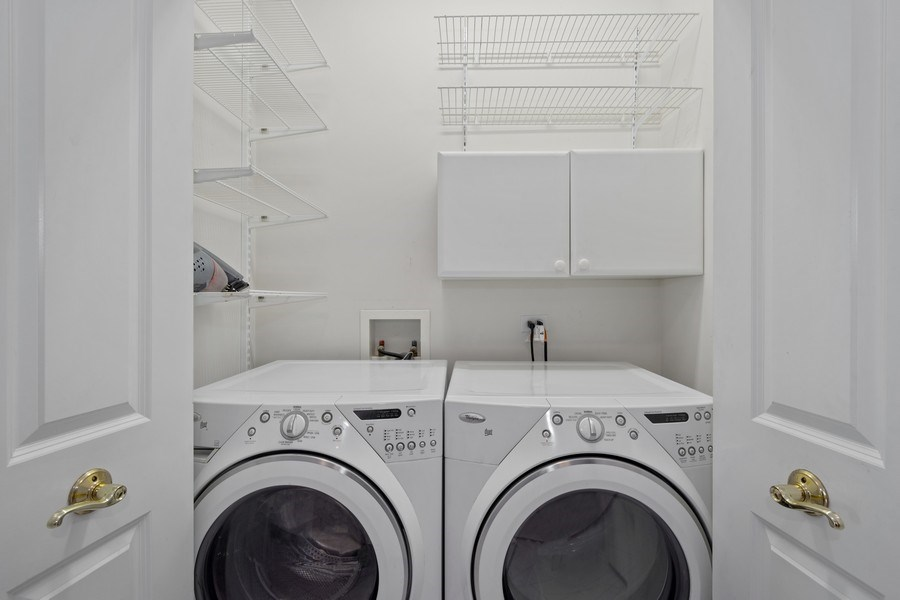 Real Estate Photography - 115 Prairie Park Dr #205, Wheeling, IL, 60090 - Laundry Room