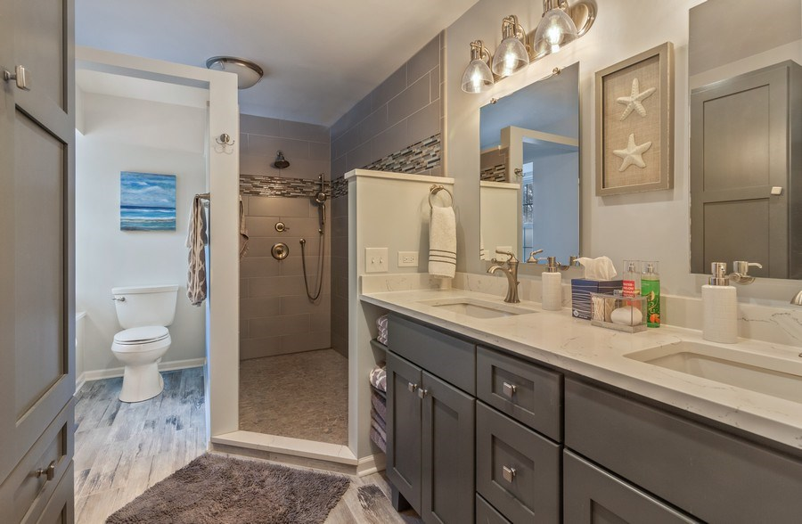 Real Estate Photography - 908 James Ct, Wheaton, IL, 60187 - Master Bathroom