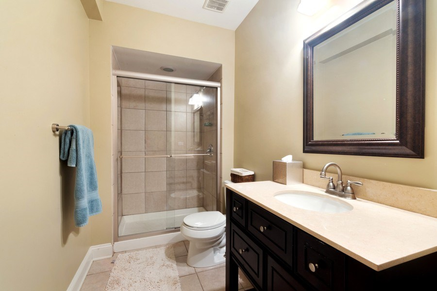 Real Estate Photography - 1057 Linden, Deerfield, IL, 60015 - 3rd Bathroom
