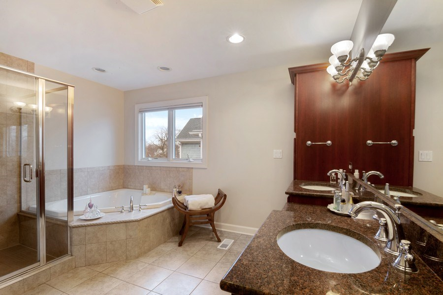 Real Estate Photography - 1057 Linden, Deerfield, IL, 60015 - Master Bathroom