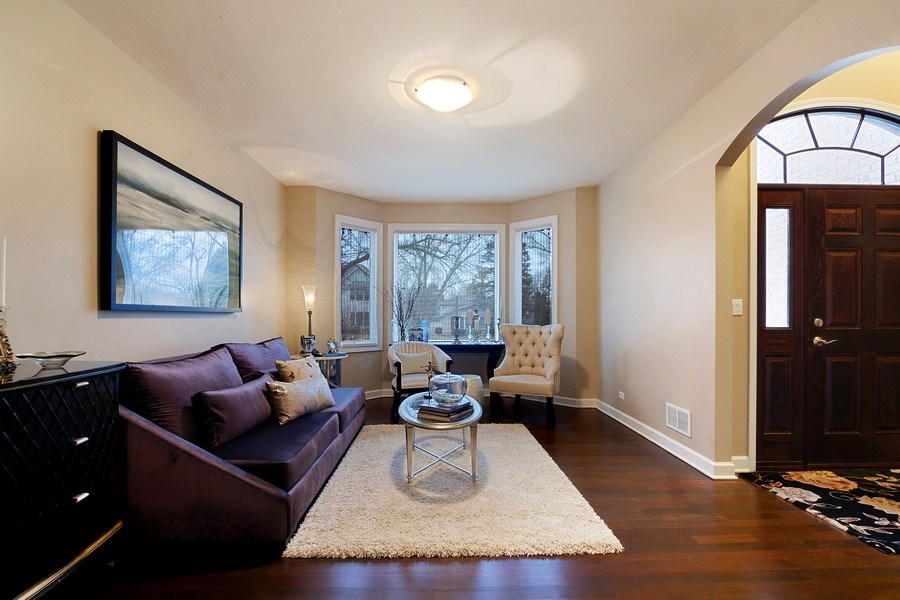 Real Estate Photography - 1057 Linden, Deerfield, IL, 60015 - Living Room