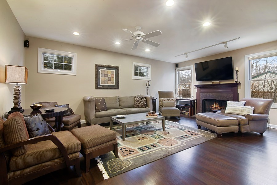 Real Estate Photography - 1057 Linden, Deerfield, IL, 60015 - Family Room