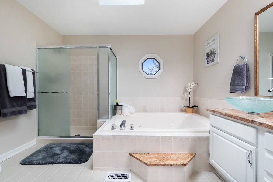 Real Estate Photography - 1005 Wild Rose Springs Dr, Saint Charles, IL, 60174 - Master Bathroom