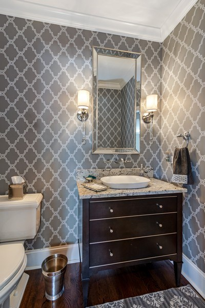 Real Estate Photography - 5 Wescott Lane, South Barrington, IL, 60010 - Powder Room
