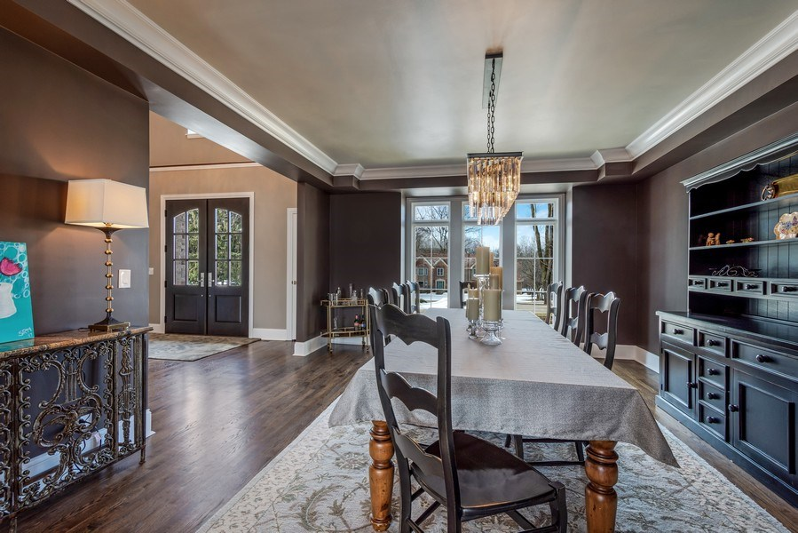 Real Estate Photography - 5 Wescott Lane, South Barrington, IL, 60010 - Dining Room